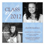 Blue diamond square photo graduation announcement 13 cm x 13 cm square invitation card