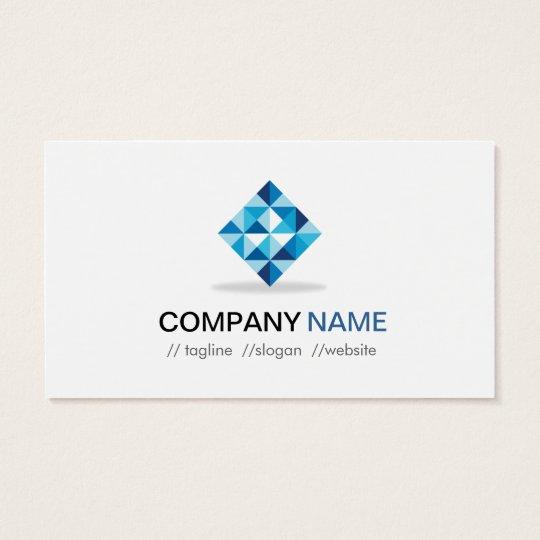 Blue Diamond Symbol - Modern Professional Business Card