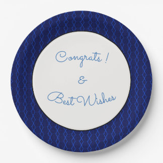 Blue-Diamond_Thread's_Congrats-Wishes-TEMPLATE 9 Inch Paper Plate