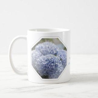 Blue Diamonds Hydrangea Flowers Coffee Mug