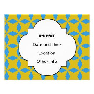 Blue diamonds pattern flyers