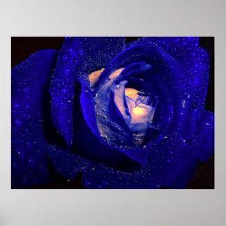 blue diamonds poster