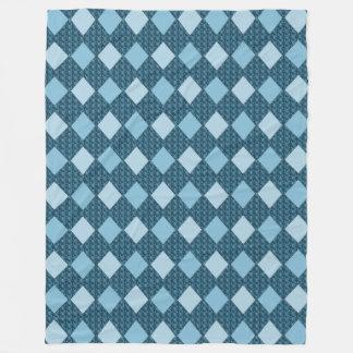 Blue--Diamonds-Walk-L-II- Fleece Blanket