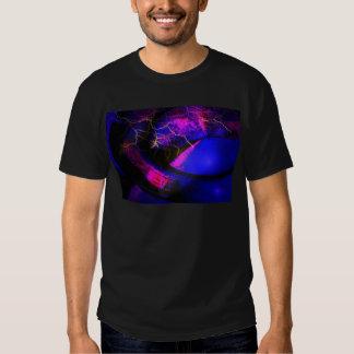 Blue Digital Abstract Art T Shirts