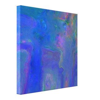 Blue Digital Abstract Canvas Wrap Print