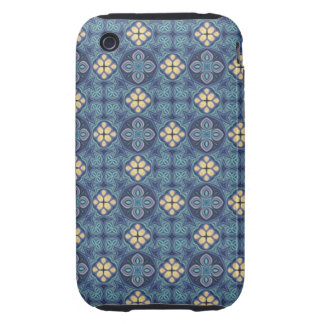 Blue Digital Art Abstract Tough iPhone 3 Covers
