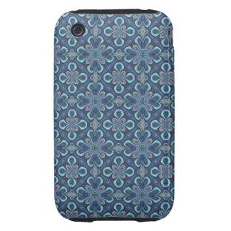 Blue Digital Art Abstract Tough iPhone 3 Case