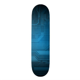 Blue Digital Binary Code Technology Style Skate 21.3 Cm Mini Skateboard Deck