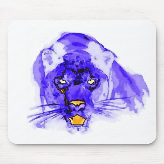 Blue Digital Pop Art Jaguar Mouse Mat