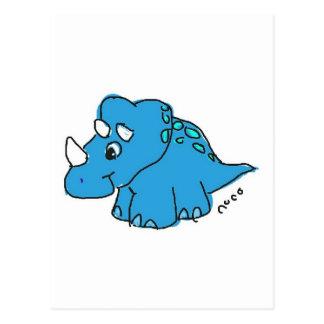 Blue Dino Cartões Postais