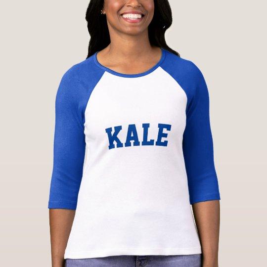 Blue Dino KALE University Letter Raglan Sports Tee