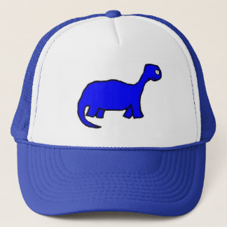 BLUE DINOSAUR! HAT! TRUCKER HAT