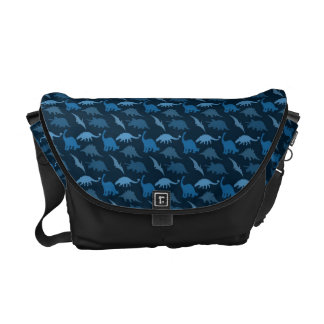 Blue Dinosaur Messenger Bag