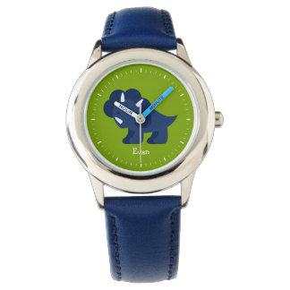 Blue Dinosaur Personalized Watches