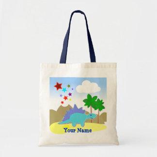 Blue Dinosaur & Stars Vulcano Bag/ Tote Budget Tote Bag