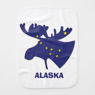 Blue Dipper Moose Burp Cloth