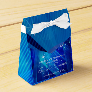 Blue Disco Ball and Sparkle Heels Favor box Favour Box