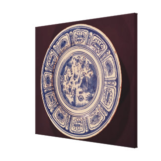 Blue dish, deriving from a late Ming Export Canvas Print
