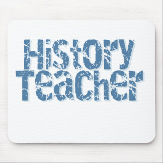 Blue Distressed History Teacher Mouse Pad
