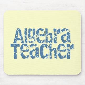 Blue Distressed Text Algebra Teacher Mouse Pad