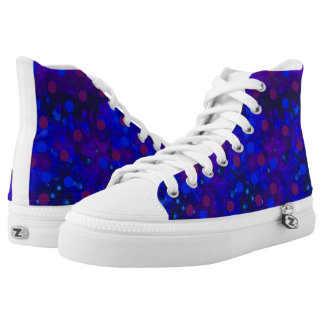 Blue Ditsy High Tops