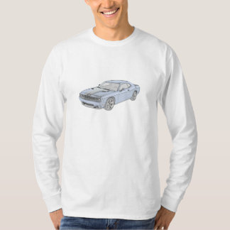 Blue Dodge Challenger Men's Long Sleeve T-Shirt