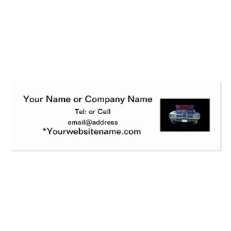 Blue Dodge Super Bee with hood up front view Pack Of Skinny Business Cards