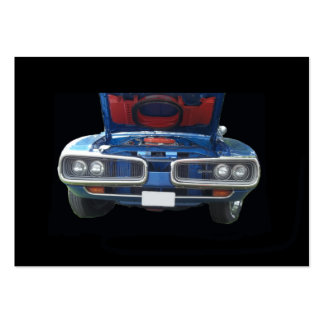 Blue Dodge Super Bee with hood up front view Pack Of Chubby Business Cards