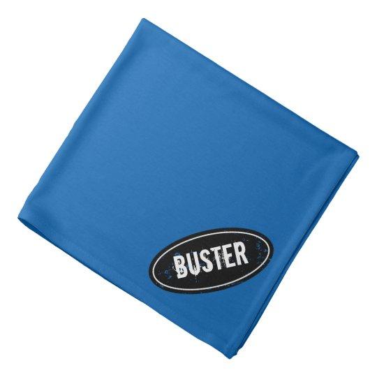 Blue dog bandanna with personalised pet name