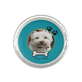 Blue Dog Customizable Ring