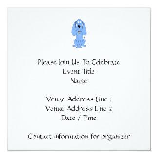Blue Dog. Hound. 13 Cm X 13 Cm Square Invitation Card