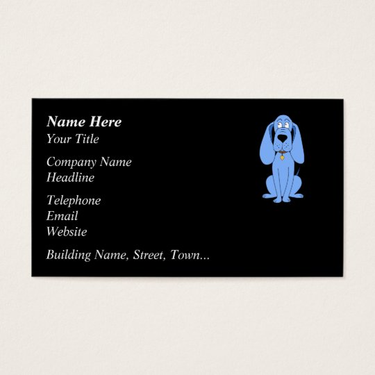 Blue Dog. Hound. Business Card