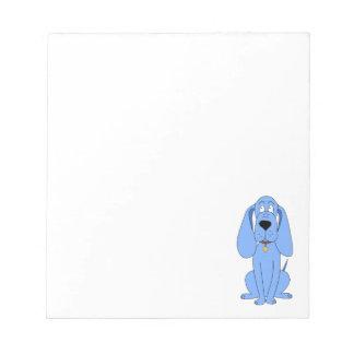 Blue Dog. Hound. Notepad
