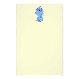 Blue Dog. Hound. Stationery Paper