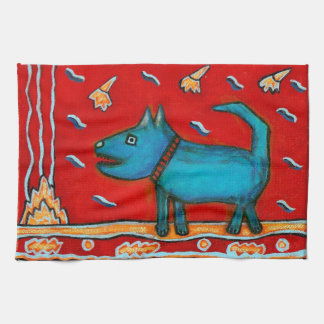 Blue Dog Kitchen Towel