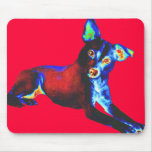Blue Dog of Happiness Mouspad Mouse Pad
