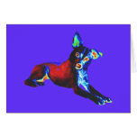 Blue Dog of Happiness Note Card