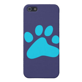 Blue Dog Paw Case For iPhone 5/5S