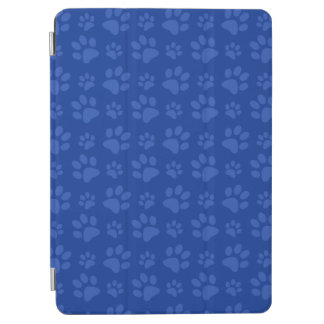Blue dog paw print pattern iPad air cover