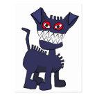 blue dog postcard