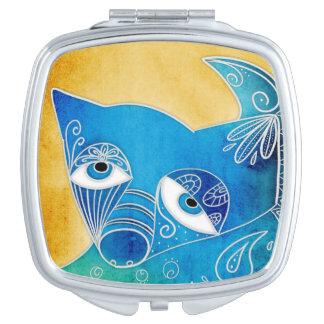 Blue dog travel mirror