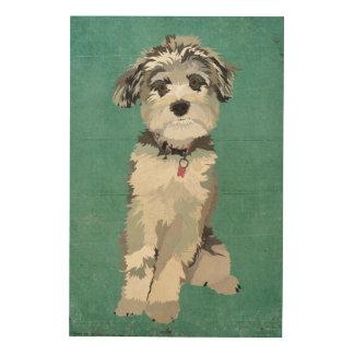 Blue Dog Wooden Canvas Wood Prints