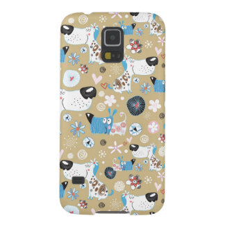Blue Doggie Pattern Galaxy S5 Cover