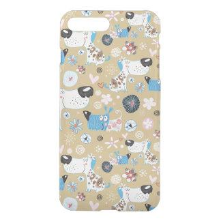Blue Doggie Pattern iPhone 7 Plus Case