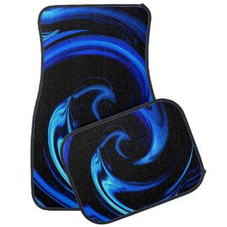 Blue Dolphin Abstract Car Mats