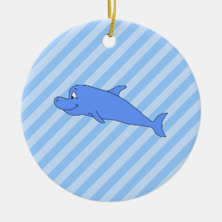 Blue Dolphin. Christmas Ornament