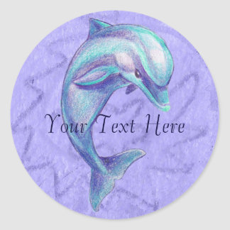 Blue Dolphin Sticker