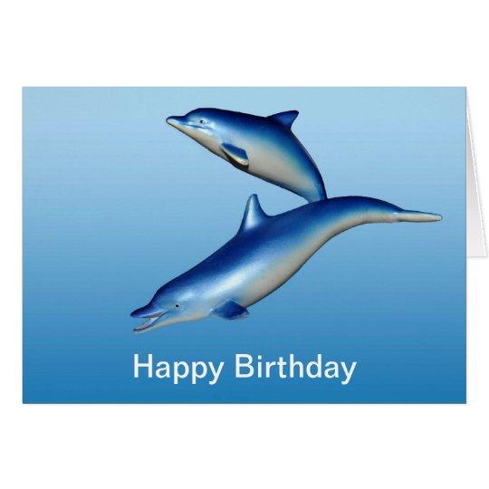 Blue Dolphins Birthday Card