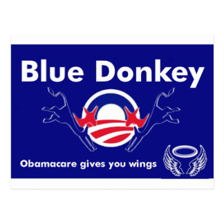Blue Donkey Postcard