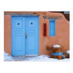 Blue Door in New Mexico Postcards